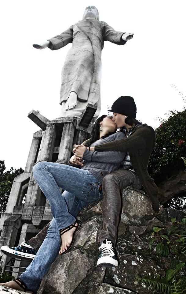 Foto Delmer Membreño Aguilar, con Naty Leiva