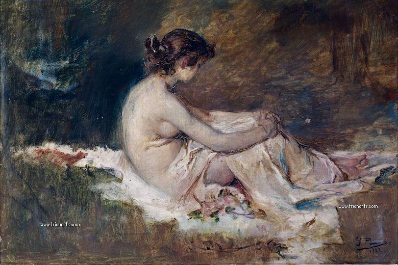 780 Ignacio Pinazo - 5 Desnudo de mujer 1902 Mdel Prado_zpstmtuytgl