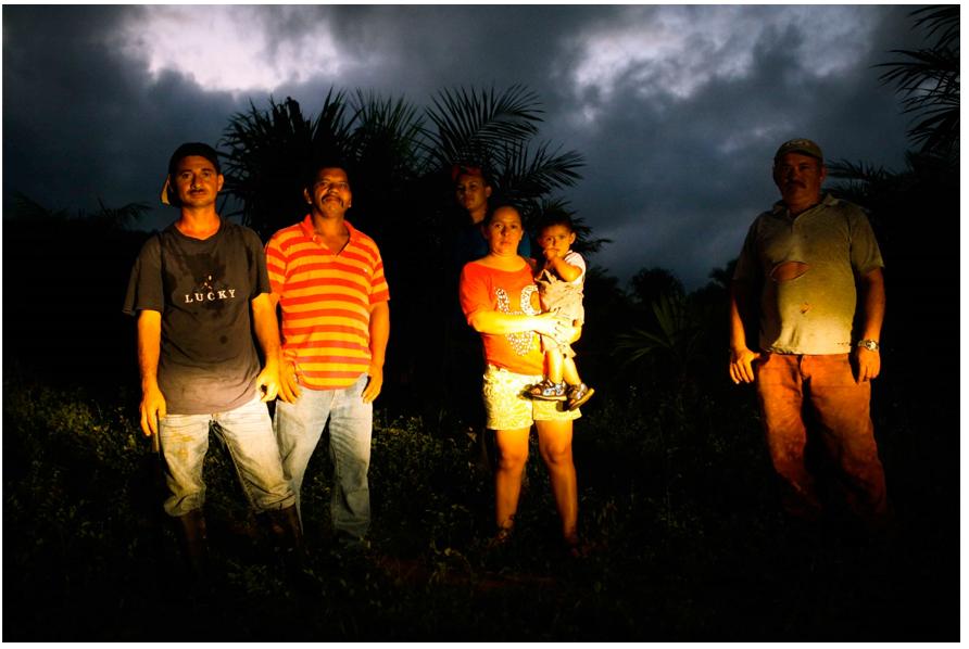 Campesinos del bajo Aguán, Colón, Honduras.