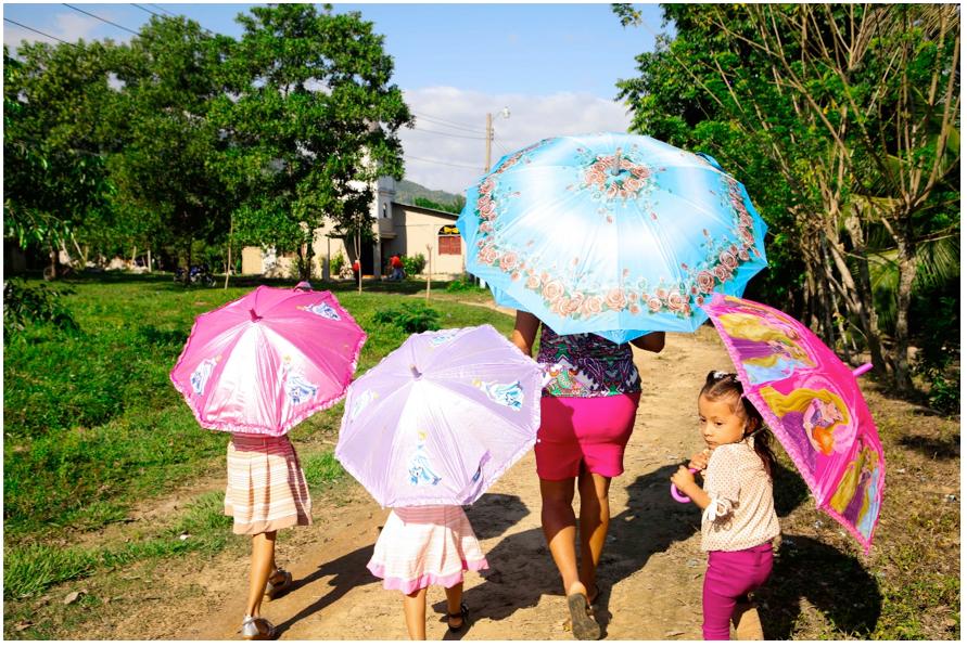 La comunidad de campesinos Guadalupe Carney está ubicada en el bajo Aguán, departamento de Colón en Honduras.