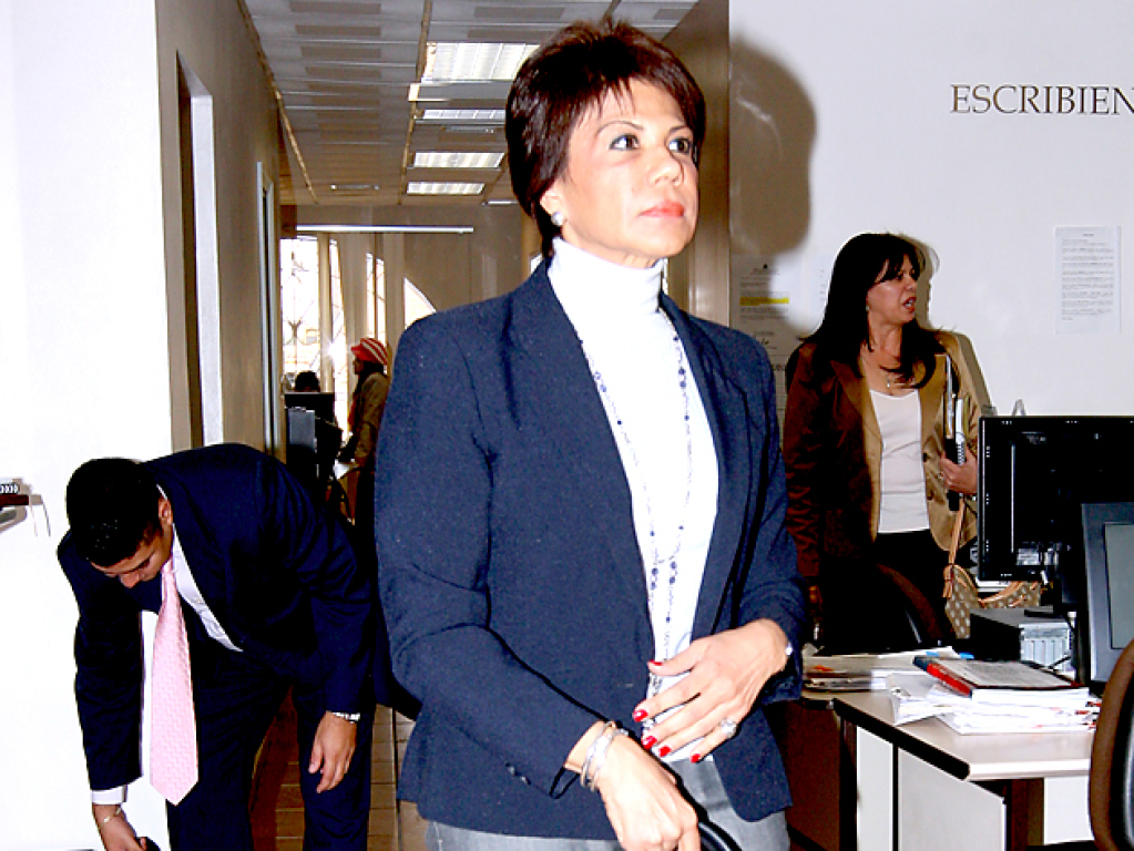 La ex-rectora de la UNAH, Ana Belén Castillo, durante el proceso legal por la defraudación de 81 millones de lempiras por la construcción del edificio de Química y Farmacia.