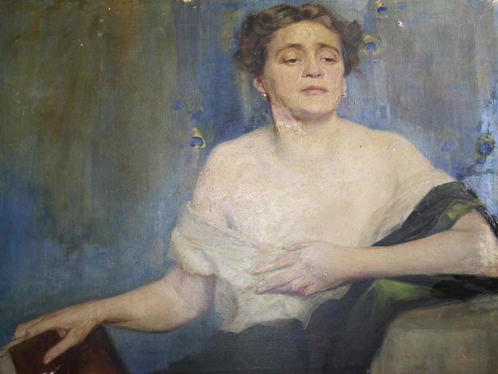 Retrato de mujer, anónimo inglés.