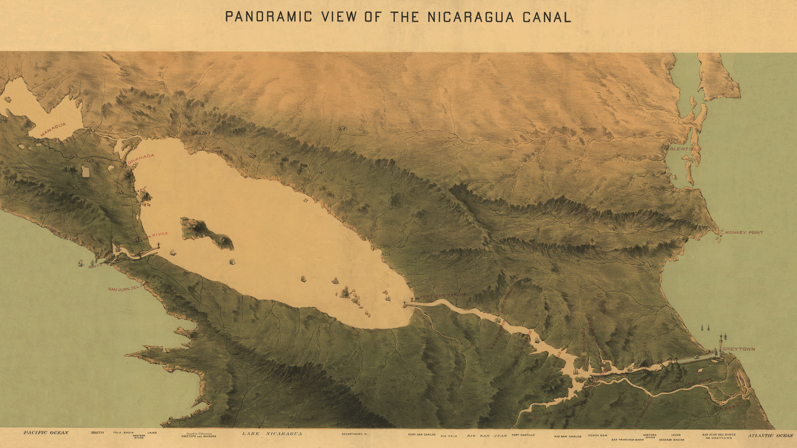 1870_Nicaragua_Canal_Map_Restoration