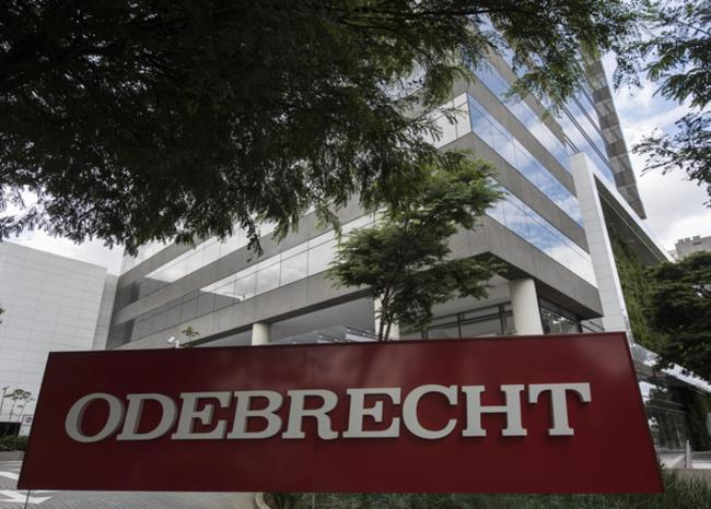 View of the headquarters of Brazilian construction giant Odebrecht SA in Sao Paulo, Brazil on March 2, 2017. For years, Brazil-based Odebrecht, one of the region's biggest construction companies, landed huge public works contracts across Latin America by paying hundreds of millions of dollars in bribes. / AFP PHOTO / NELSON ALMEIDA