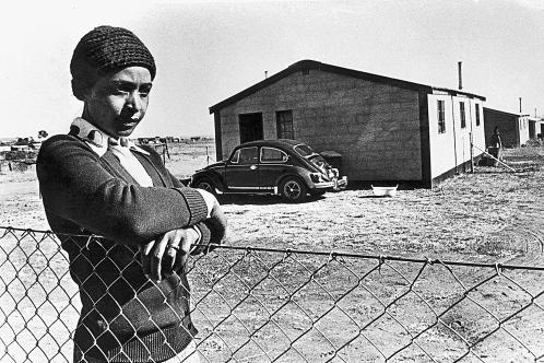 Winnie in 1977 during her exile in Brandfort. GETTY IMAGES
