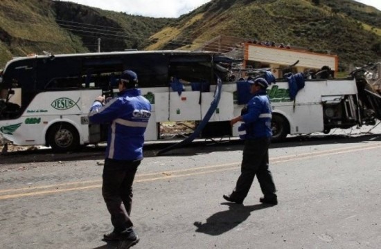 bus accidentado, Ecuador