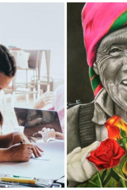 Con el carboncillo, la hondureña Loveira Talavera busca plasmar realismo en sus retratos