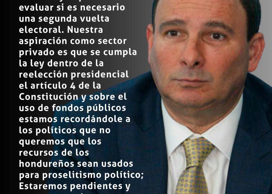 Juan Carlos Sikaffy, presidente del Consejo Hondureño de la Empresa Privada (Cohep)