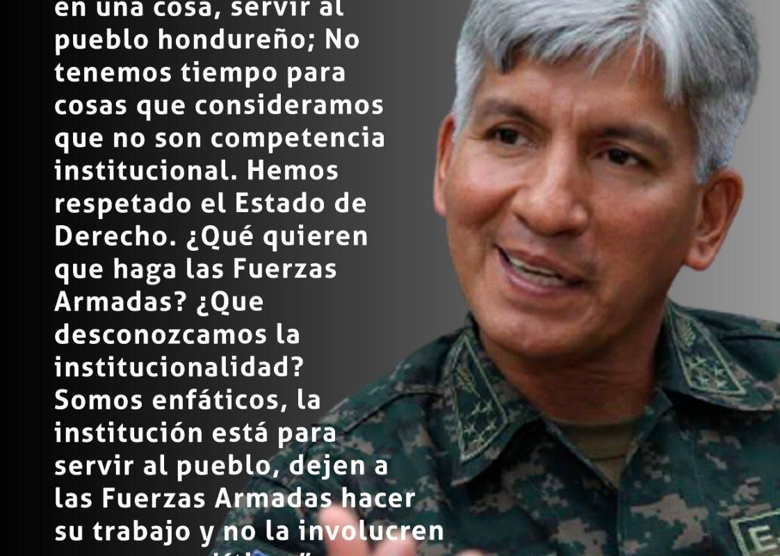 #ElPulso #Citas | El jefe de las Fuerzas Armadas, Tito Livio Moreno