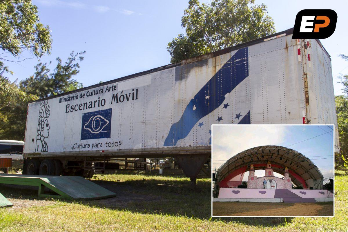 Cultura para nadie: Escenario móvil donado por Suecia se pudre en cuartel militar