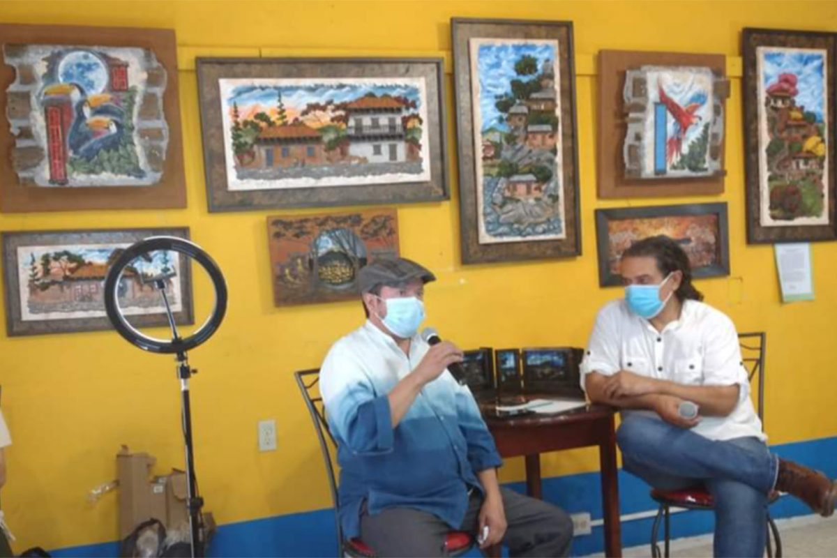 Artista hondureño Marco Licona presenta su colección de pinturas sobre Tegucigalpa
